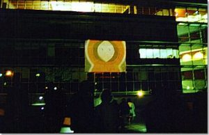 South Park projected onto the side of the building